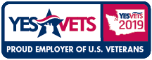 2019 YesVets Red White and Blue Logo