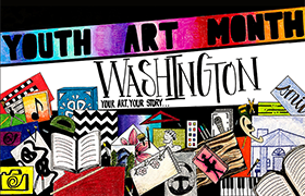Washington State Youth Art Month Flag
