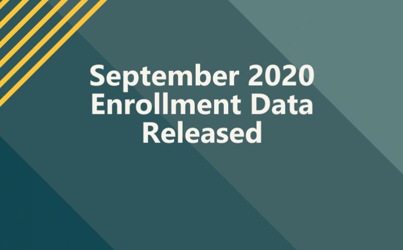 September 2020 Enrollment Data Released