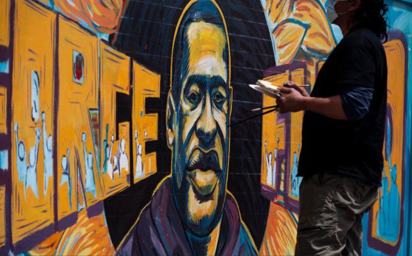 George Floyd Mural in Minneapolis, MN